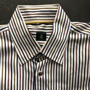 *MENS* Robert Talbott Striped Classic Dress Shirt